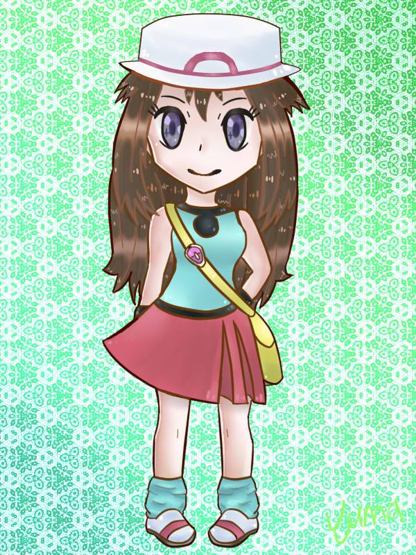 Pokemon Trainer Leaf Green Blue By Bravedyne On Deviantart