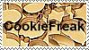 Cookie Freak Stamp by Riverbird