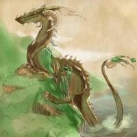 Seaside Dragon by KJK-Comics