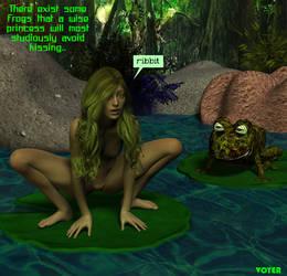 Princess and Hypnofrog 3D by hypnovoyer