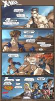 X-Men:Clash of Men by FoxxFireArt
