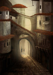 Alley by Luetche