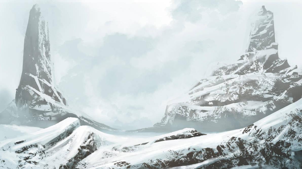 Snow mountains by Luetche