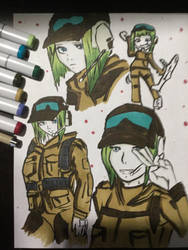 Ela Sketch Rainbow Six Siege by djakal12