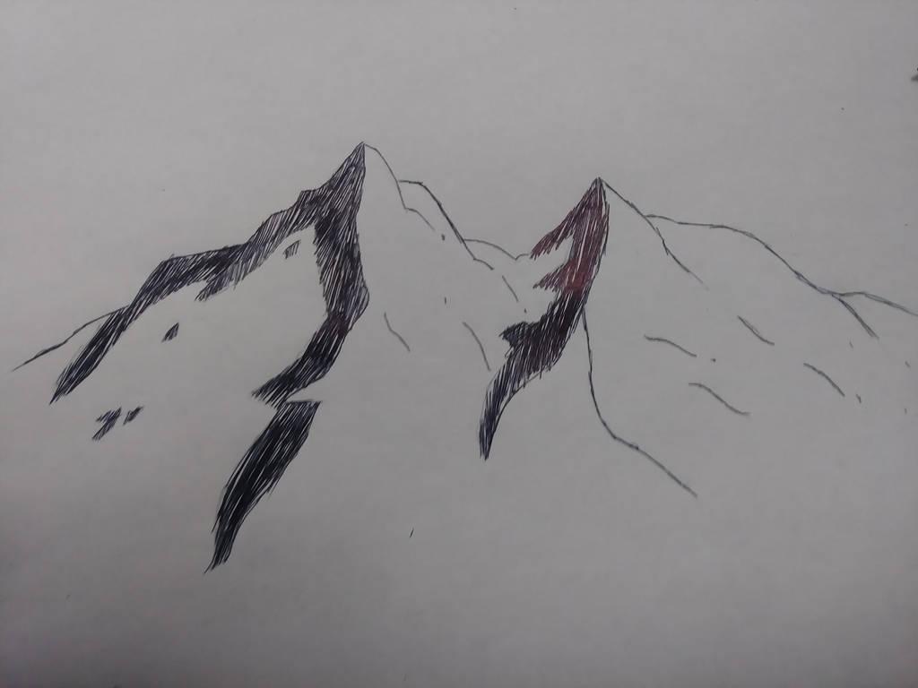 mountain sketch by djakal12