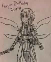 Sword Art Online: Yuuki Asuna (Birthday Art) by TempestVortex