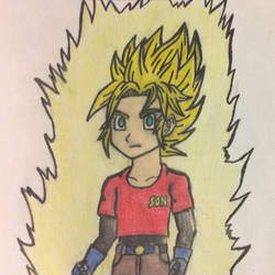 Dragon Ball Beyond: Super Saiyan Pan (Pre-Teen) by TempestVortex