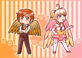 Sadaharu and Noriko by kabocha