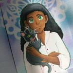 Naomi and Pancake by kabocha