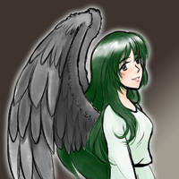 Black Winged Angel by kabocha