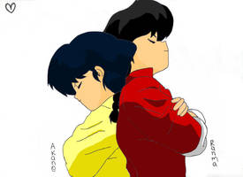 Ranma and Akane by fgtz12