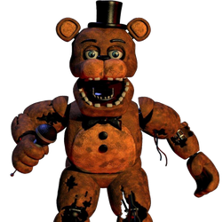 Withered Freddy Render png By Scott by kingofbut