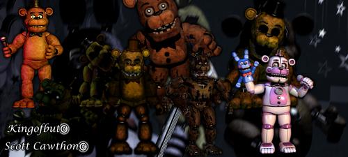 All Freddys by kingofbut