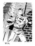 Superman pin up II by DaveBullock