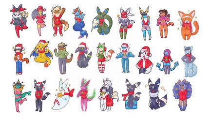 .:ChristmasGifts2018:. by pitch-black-crow