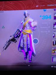 My Warlock Pre-forsaken (no helmet) by MegaScarletsteam