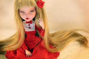 Ruby portrait - Monster High Draculaura OOAK Doll by Szklanooka