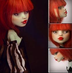Francine portrait OOAK Monster High doll by Szklanooka
