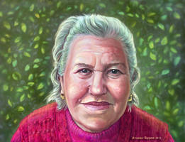 Portrait of my grandmother by Burov