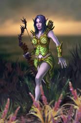Forest Elf Hunter by Burov
