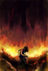 As My World Burns Apart by paintausea