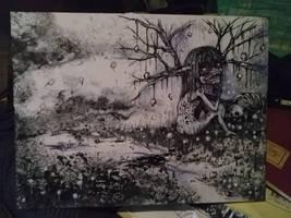 Inktober 22, 2017 - trail by paintausea