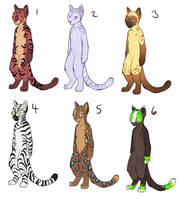 Chi Cat Adoptables by AnnieHyena