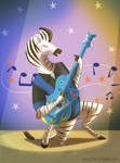 Rockabilly Zebra by Fox-The-Wandering