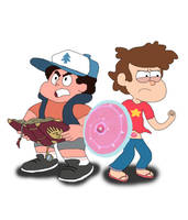 AU: Steven Pines and Dipper Universe by Ravencourse