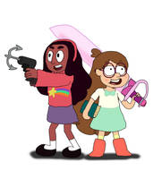 AU: Connie Pines and Mabel Maheswaran by Ravencourse