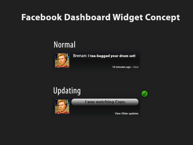 Facebook widget Concept by jeayese