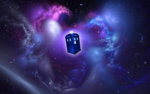 The Tardis flying through space by jeayese