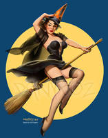 Riding High - Tribute to Gil Elvgren by danyboz