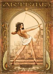 Artemis | Art Nouveau by danyboz
