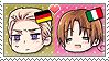 APH Chibi Heads Germany x Italy Stamp by megumar