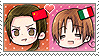 APH Chibi Heads China x Italy Stamp by megumar