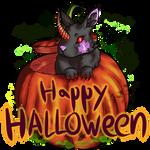 Halloween bunny by cross-the-swirl