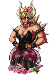 Bowsette by cross-the-swirl