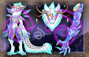 Ice crystal dragon Protogen. closed by cross-the-swirl