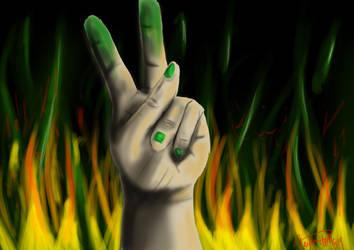 Go Green for Iran by SilverFirePhoenix