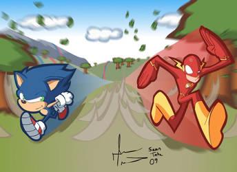 Sonic vs Flash by GroundUpStudios