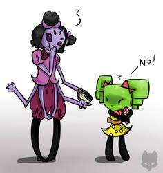 Mimi meets Muffet by DebbyGattaTheBeast