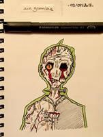 Day 25 - a zombie  by Dementeris-San