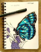 Day 28 - a butterfly  by Dementeris-San