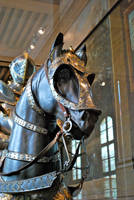 Armored horse head 1 by ApteryxStock