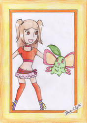 Pokix-Lyra and Chikorita by Dawn-Lilly16