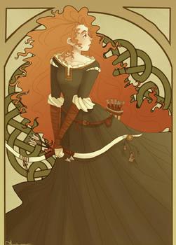 Art Nouveau Merida by brusierkee