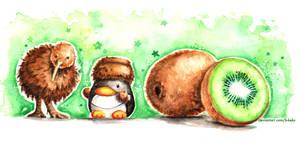 Fruit Penguins: Kiwi Comrades by B-Keks