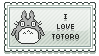 FREE I love Totoro stamp by mirmirs
