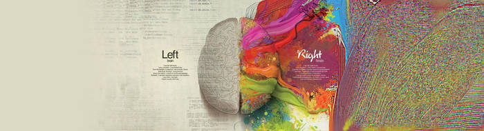 Left Brain-Right Brain Dual monitor by Dericwadleigh